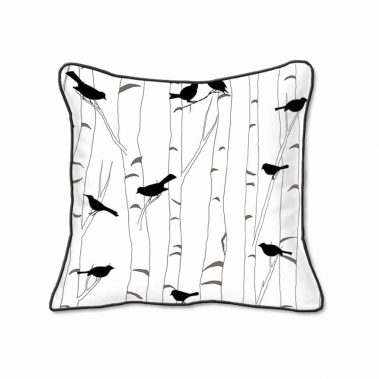Casart Decor_Black Birds Birch Animalia Accents 1-bw-B_SQ-w_reverse_pillow slipcover