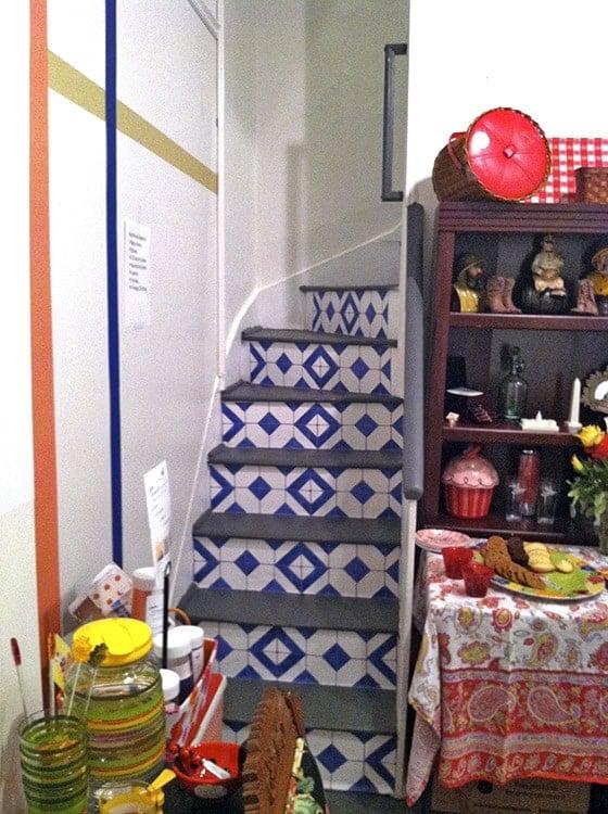 BLB_Casart-Display-faux tile stairs-customer gallery