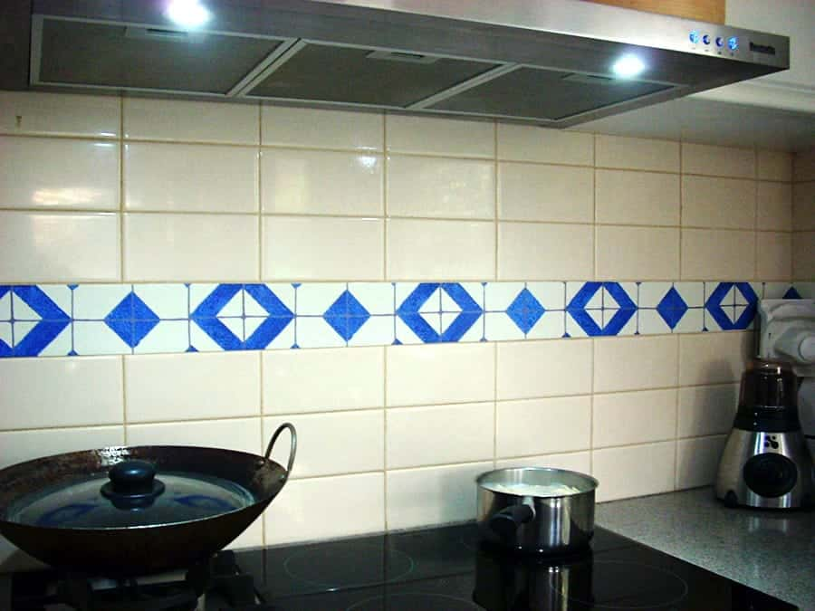 Casart Backsplash faux tiles after 1-customer gallery