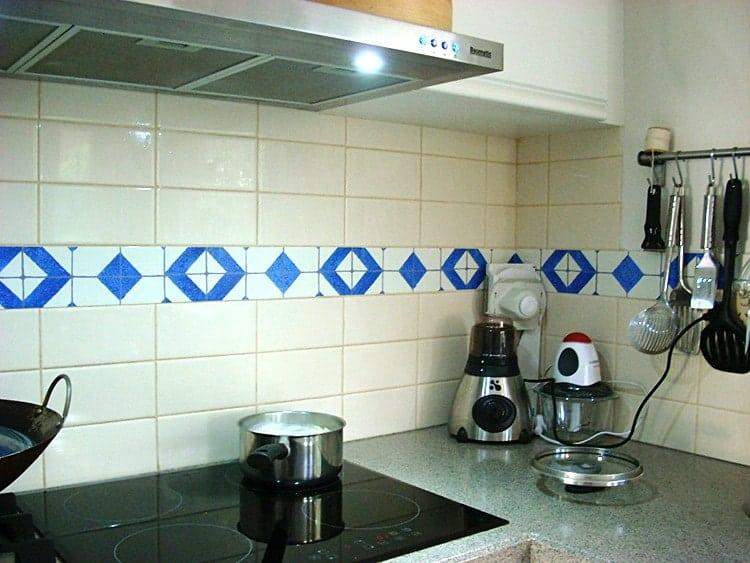 Casart Backsplash faux tiles after 1-customer gallery