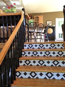 Casart Coverings_Bucahan customer-after_Faux Tile stair risers 2