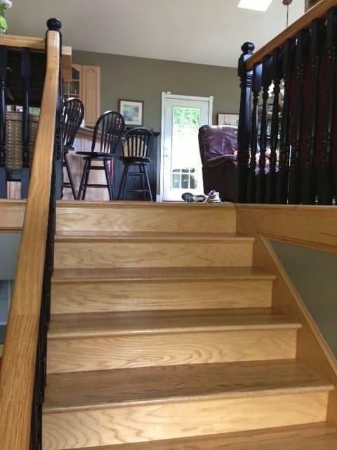 Buchanan-before_Faux Tile stair riser_Casart coverings