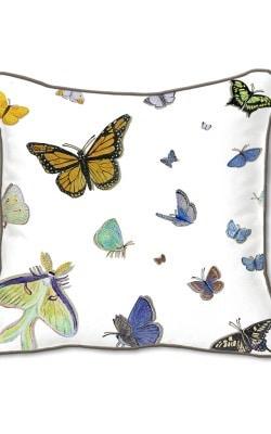 Casar Decor_Butterflies Animalia Accent_SQ-w reverse_pillow slipcover