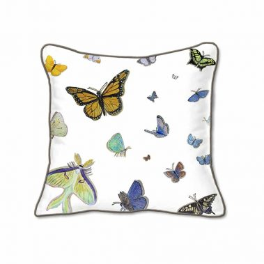 Casar Decor_Butterflies Animalia Accent_SQ-w reverse_pillow slipcover
