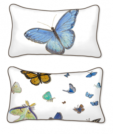 Casar Decor_Butterflies Animalia Accent_12x20-w_pillow slipcover