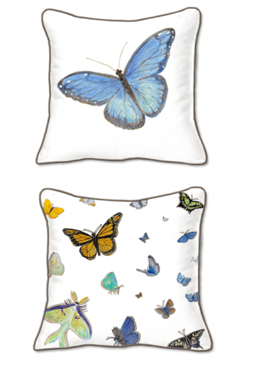 Casar Decor_Butterflies Animalia Accent_SQ-w_pillow slipcover