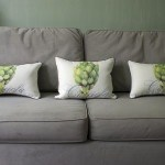Casart coverings_Artichaut_Pillow_gray sofa
