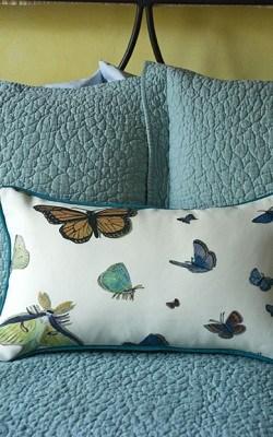 Casart_Reversible Butterflies Pillow