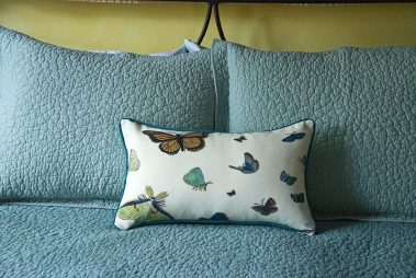 Casart_Reversible Butterflies Pillow