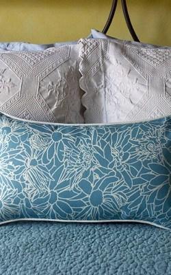 Casart coverings_LtBlue_Multi Flower Power Pillow
