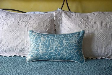 Casart coverings_LtBlue_Multi Flower Power Pillow