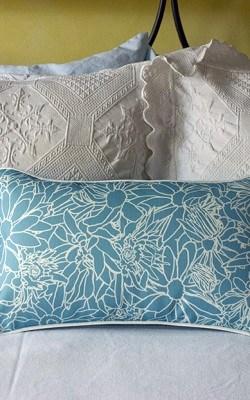 Casart coverings_LtBlue-white Flower Power Pillow