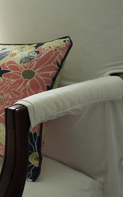 Casart coverings_Multi Flower Power Pillow_Libby Langdon Groovy Gate Screen