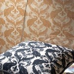 Coordinating Casart coverings_Peacock Damask Pillow-wallcovering