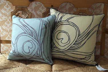 Casart coverings_Quill Pillow_french bench2