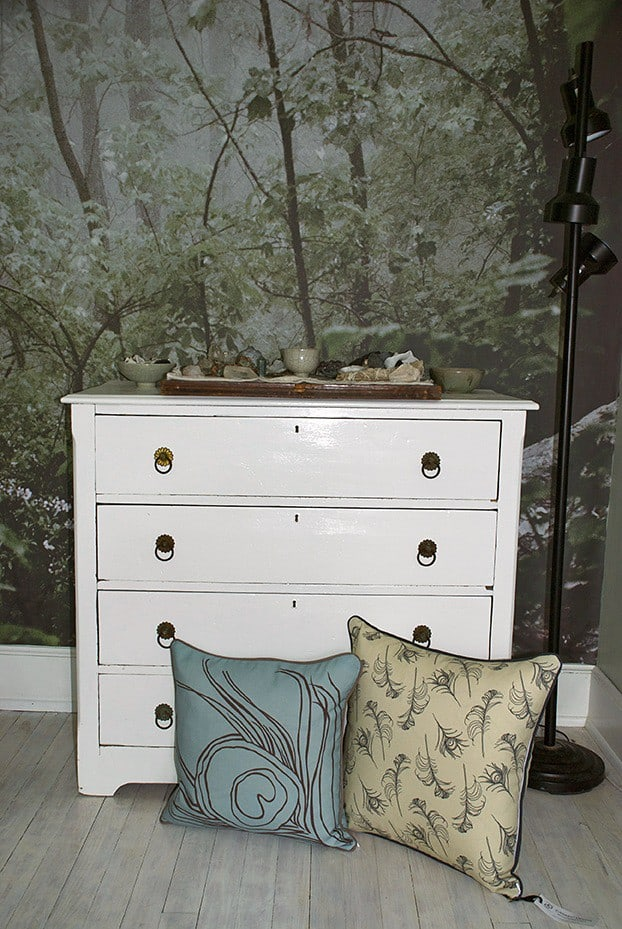 Casart coverings_Quill Pillows-woodland mural-2