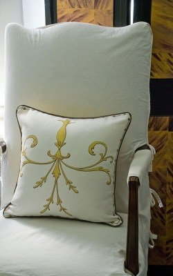 Casart coverings_Scroll Pillow_Tortoiseshell screen
