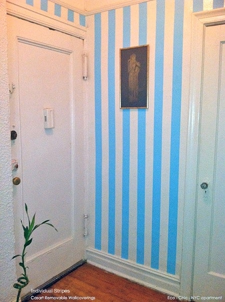 Eco Chic hallway gets striped_Casart stripes_customer gallery