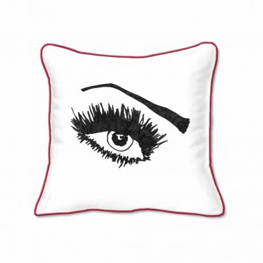 Casart Decor_Expressive Eyes 1-lftO-A_SQ-w-red_pillow slipcover