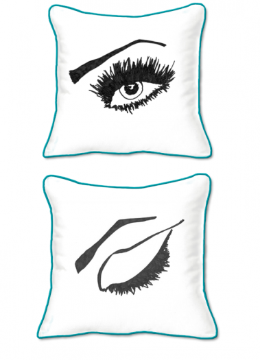 Casart Decor_Expressive Eyes R-SQ-t-w_pillow slipcover