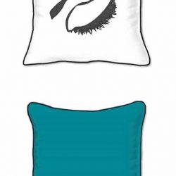 Casart Decor_EyesRc-SQ solid turquoise back -w black