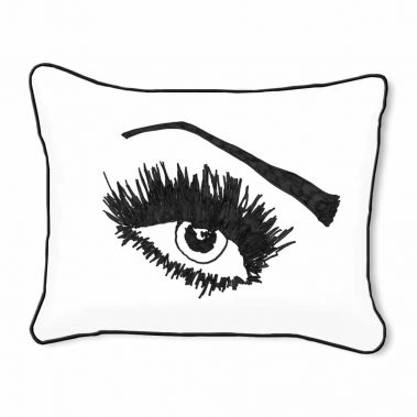 Casart Decor_Expressive Eyes_lftO-A_14x18-w-black_pillow slipcover