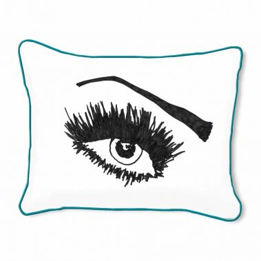 Casart Decor_Expressive Eyes_lftO-A_14x18-w-turquoise_pillow slipcover