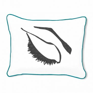 Casart Decor_Expressive Eyes_lftC-B_14x18-w-turquoise_pillow slipcover