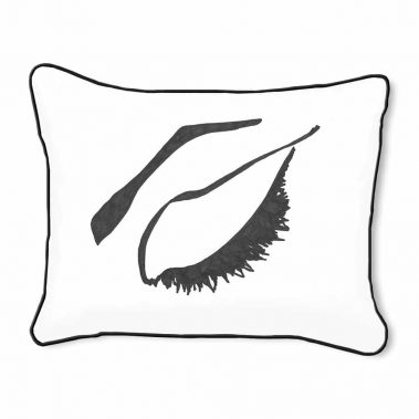 Casart Decor_Expressive Eyes_rtC-B_14x18-w-black_pillow slipcover