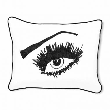 Casart Decor_Expressive Eyes_rtO-A_14x18-w-black_pillow slipcover