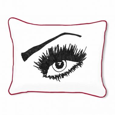Casart Decor_Expressive Eyes_rtO-A_14x18-w-red_pillow slipcover