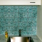 Casart coverings_Feature image_Laundry after Casart Teal Faux Glass Mosaic Tile - customer gallery