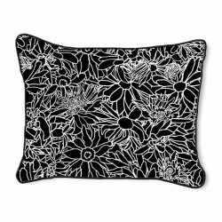 Casart Decor_Flower Power Black-White 14x18-w