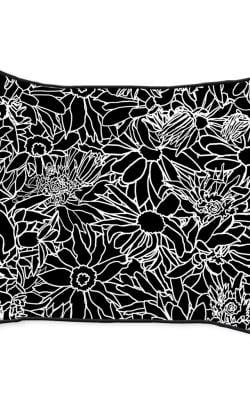 Casart Decor_Flower Power Black-White 14x18-w