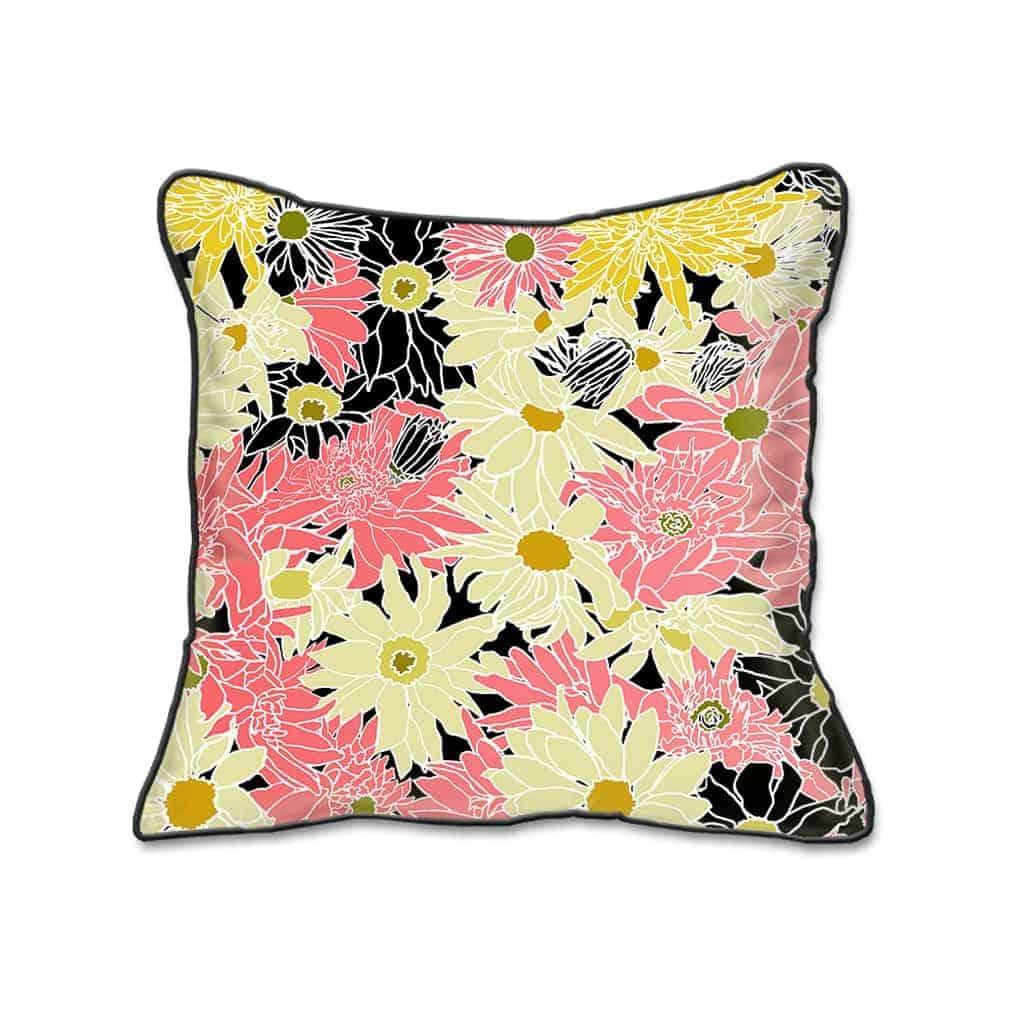 Casart Decor_Flower Power Botanical Accents pillow slipcover