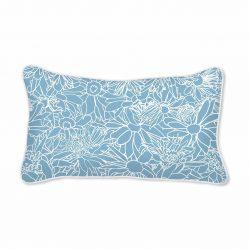 Casart Decor_Flower Power3 Blue & White_12x20-white piping