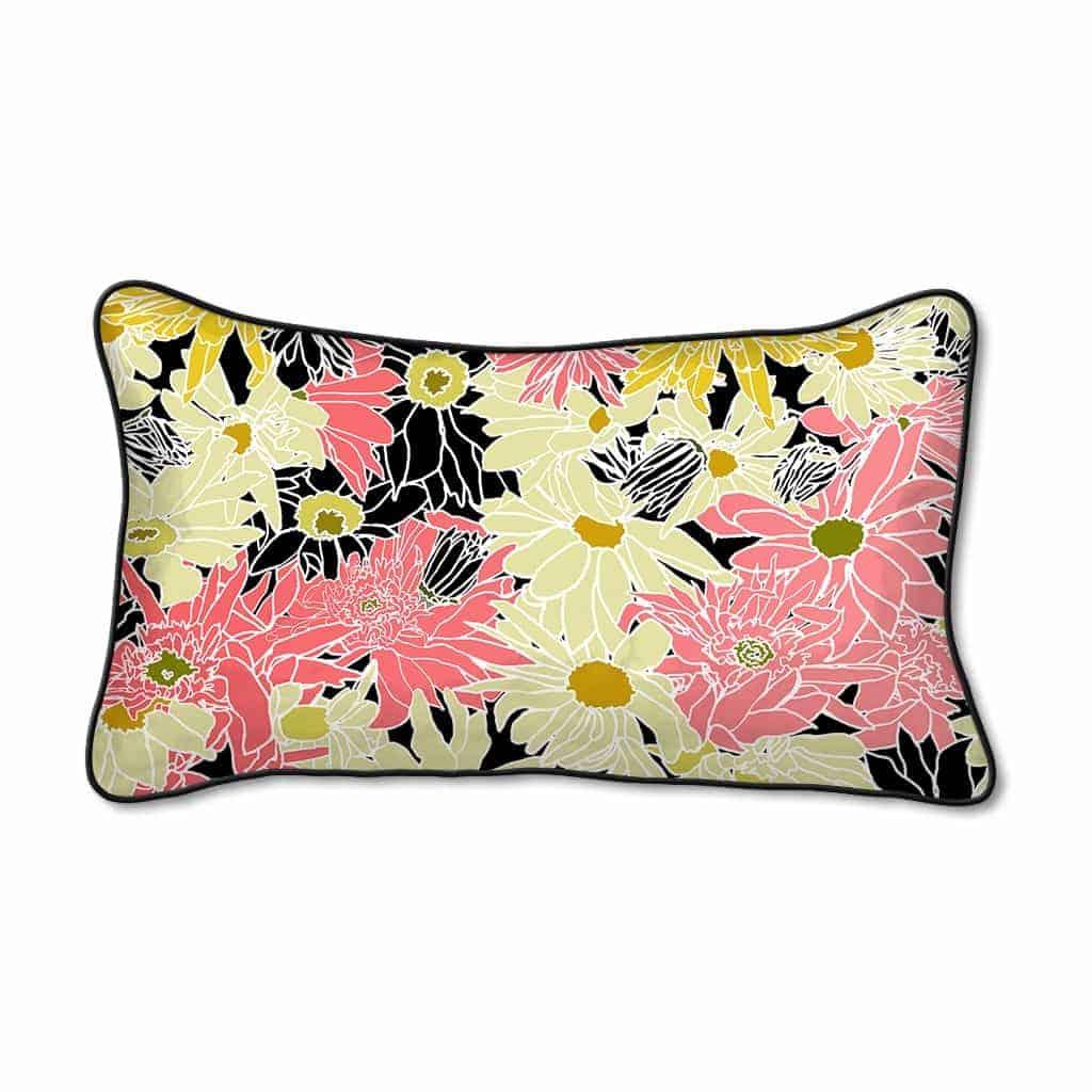 Casart Decor_FlowerPower1_12x20_w_pillow slipcover