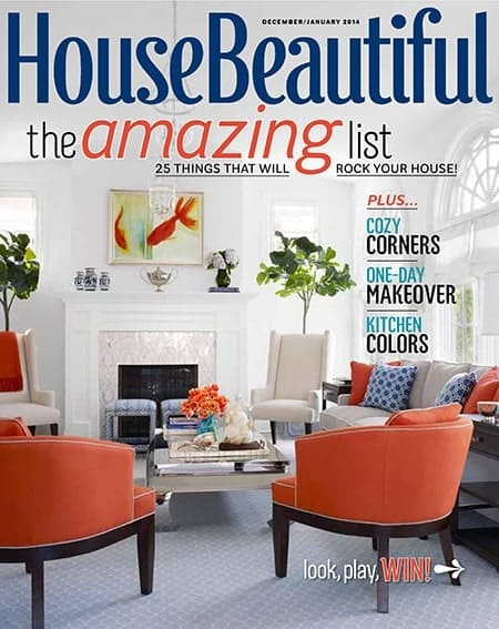 Libby Langdon on Cover of House Beautiful with Casart coverings feature article photo