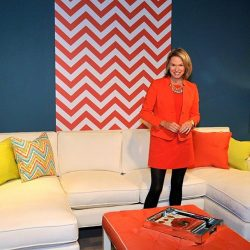 Casart Coverings_Libby Langdon Chic Chevron for High Point Showroom 1