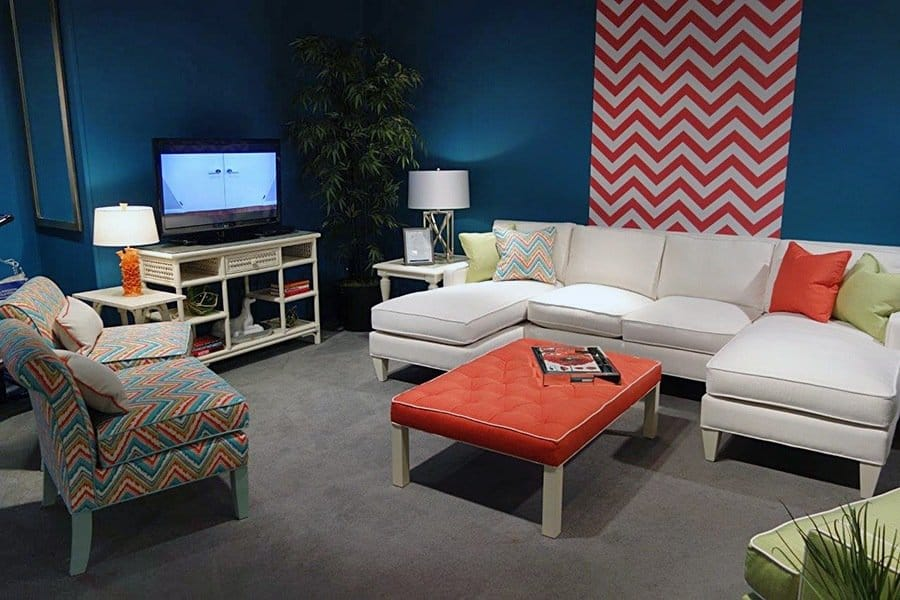 Casart coverings_Libby Langdon Chic Chevron for High Point Showroom 2