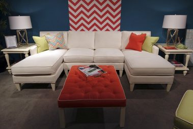 Casart Coverings_Libby Langdon Chic Chevron for High Point Showroom 3