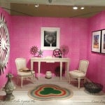Casart coverings_Room - Drysdale Pink Faux Linen - Antiques in Alexandria