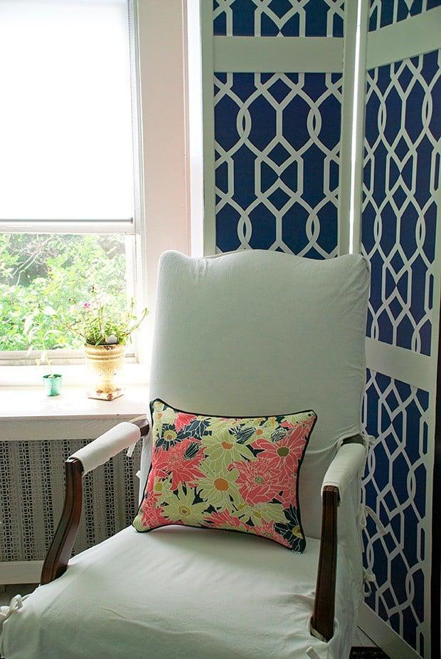 Casart coverings Multi Flower Power Pillow_Libby Langdon Groovy Gate Screen