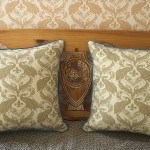 Casart decor Ginger Peacock Damask reversible, all-weather pillow covers