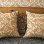 Casart decor Tumeric Peacock Damask reversible, all-weather pillow covers