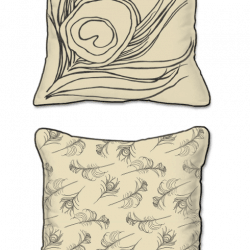 Casart Decor Quill Animalia Accents__Down Anise_SQ-w_pillow slipcover