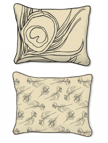 Casart Decor Quill Animalia Accents__Down Anise_14x18-w_pillow slipcover