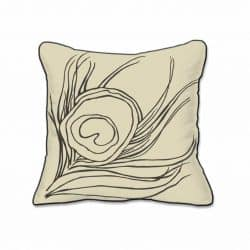 Casart Decor Quill Animalia Accents__Down Anise-A_SQ-w_pillow slipcover