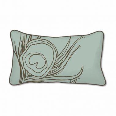 Casart Decor_Quill Animalia Accents_SageCin-A_12x20-w_pillow slipcover