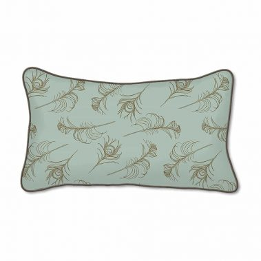 Casart Decor_Quill Animalia Accents_SageCin-B_12x2o-w_pillow slipcover